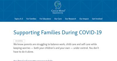 child mind institute site screenshot